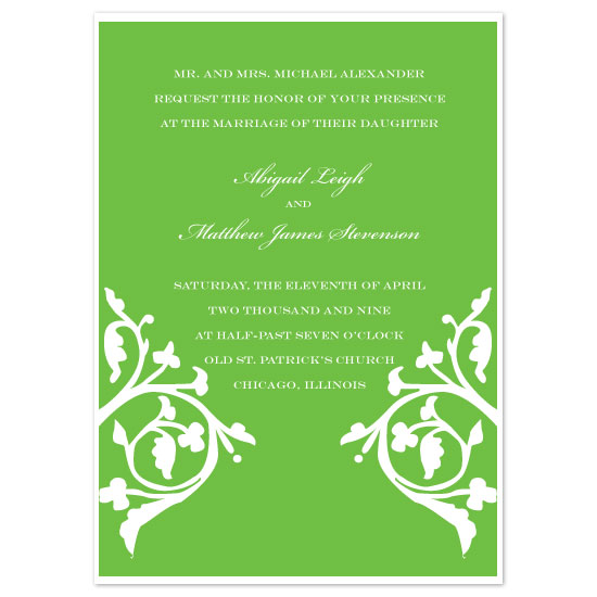 wedding invitations - Vine Trellis by Weddings and Wellies