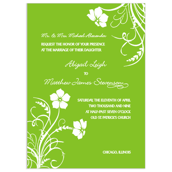 wedding invitations - Whimsical Wildflower by Mrs. Kim
