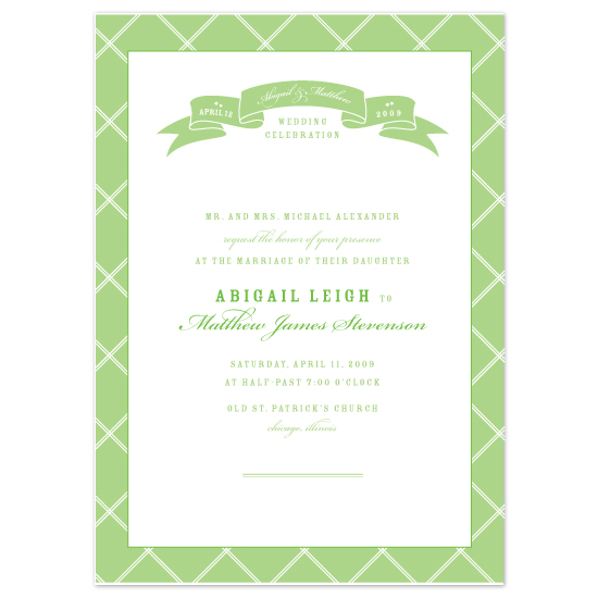 wedding invitations - Trellis by Ann Rae Creative