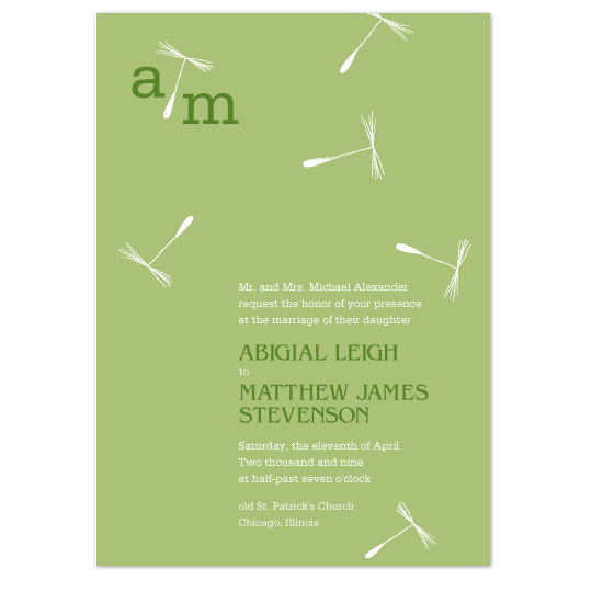 wedding invitations - Dandelions by Jaee