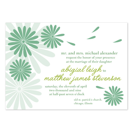 wedding invitations - Spring Blossoms by Jaee