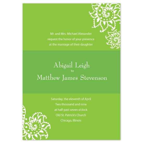 wedding invitations - Floral Swirl by Roshni Designs
