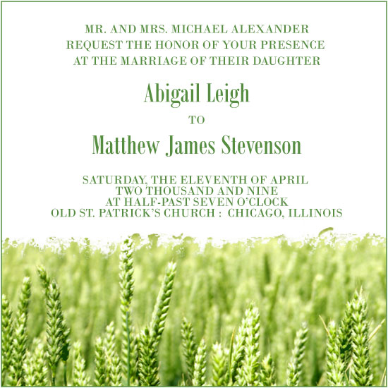 wedding invitations - Field of Dreams by Sweet Spot Designs