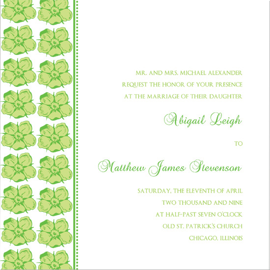 wedding invitations - Simply Spring by Jessica's Design Shop