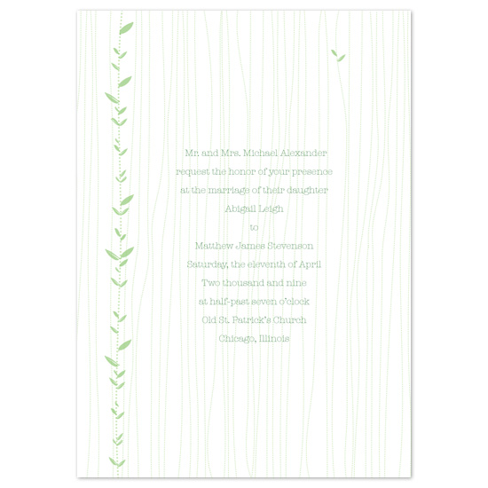 wedding invitations - Bamboo by Pixie Stick Press