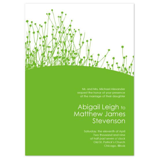 wedding invitations - Love grows like grass by Molly Brekke