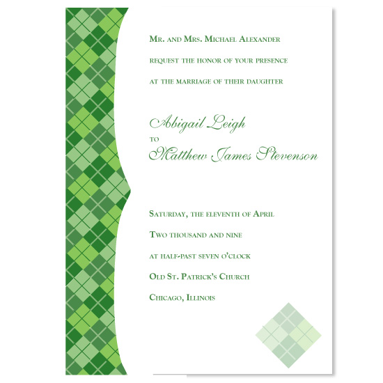 wedding invitations - Perfect in Plaid by Molly Campbell
