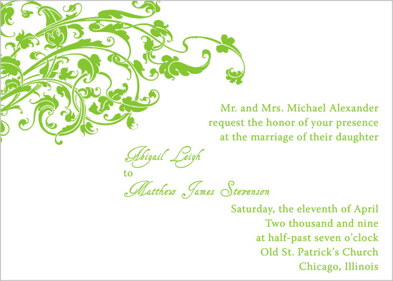 wedding invitations - Fresh Leaves by Bree