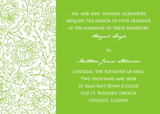 wedding invitations - Solid Green by Bree