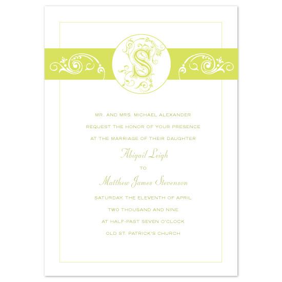 wedding invitations - Blooming Monogram by Orange Blossom Ink