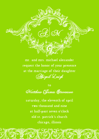 wedding invitations - Cartouche by Bree