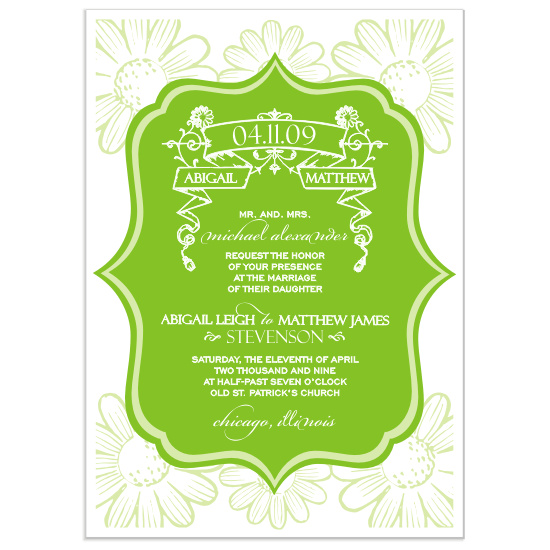wedding invitations - Vintage Petals by Mrs. Kim