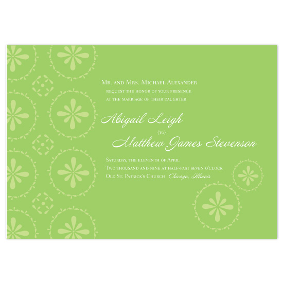 wedding invitations - Simply Green by Orange Blossom Ink