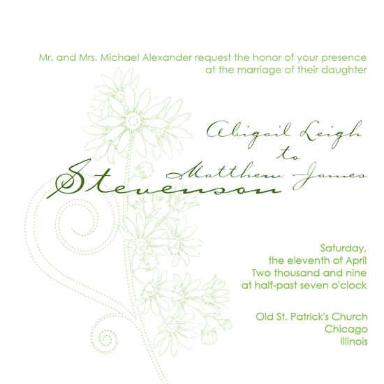 wedding invitations - The Beginning of Spring by Grafik Expressions