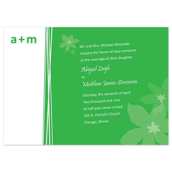 wedding invitations - Spring Green by ariel.body