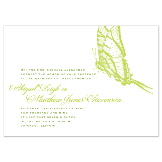 wedding invitations - Spring Butterfly by Tara Hanneman