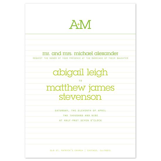 wedding invitations - Love Note by Sweet Paper Studio