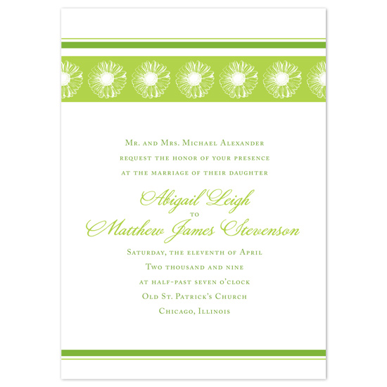 wedding invitations - Green Gerbera by Tara Hanneman
