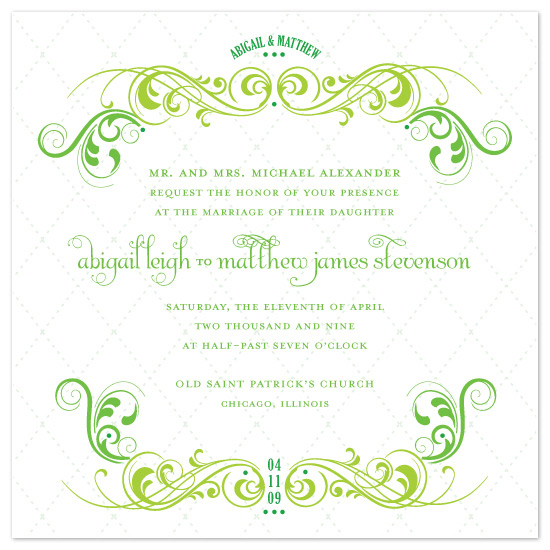 wedding invitations - Quilted Spring by Louella Press