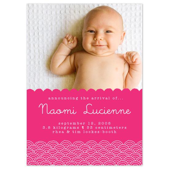 birth announcements - Naomi by Alex Elko Design