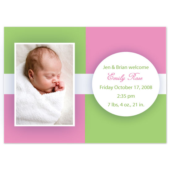 birth announcements - Emily Rose by JMHickerson Designs