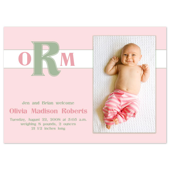 birth announcements - Olivia Sweet by JMHickerson Designs