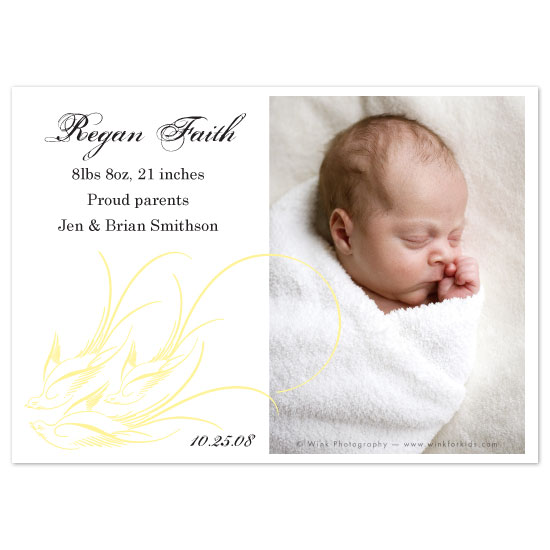 birth announcements - Birds of a Feather by Zenadia Design