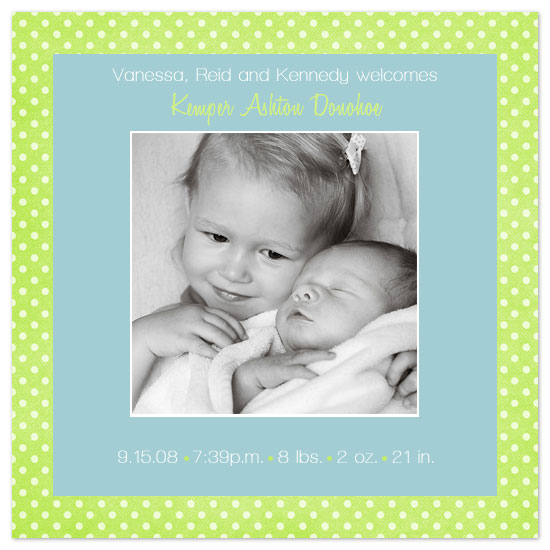 birth announcements - Kemper Dream by JMHickerson Designs