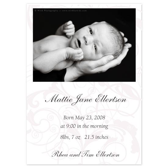 birth announcements - Delicate Elegance by Zenadia Design