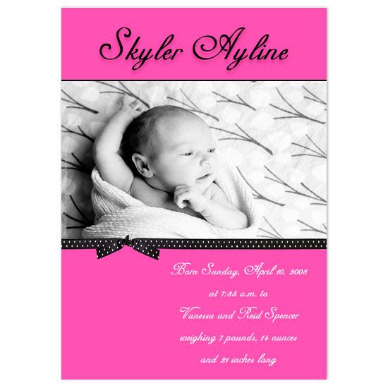 birth announcements - Skylar Angel by JMHickerson Designs