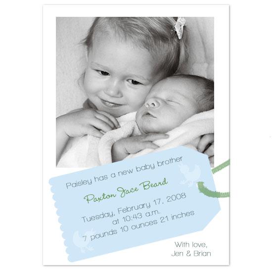birth announcements - Paxton Cute by JMHickerson Designs