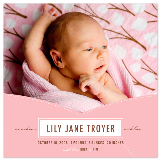 birth announcements - Swaddled by Ann Rae Creative