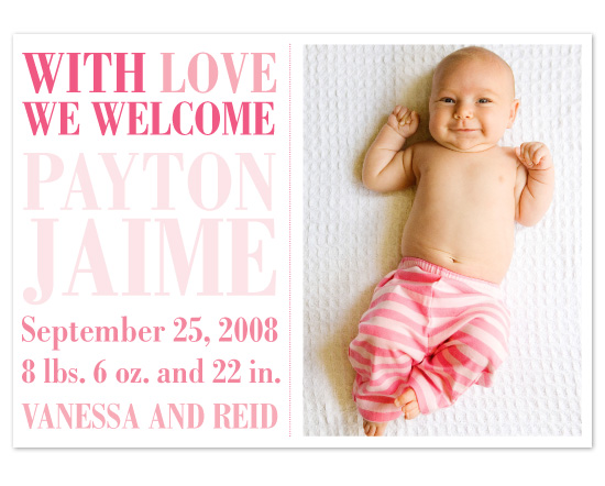 birth announcements - With Love by Julia Destrampe