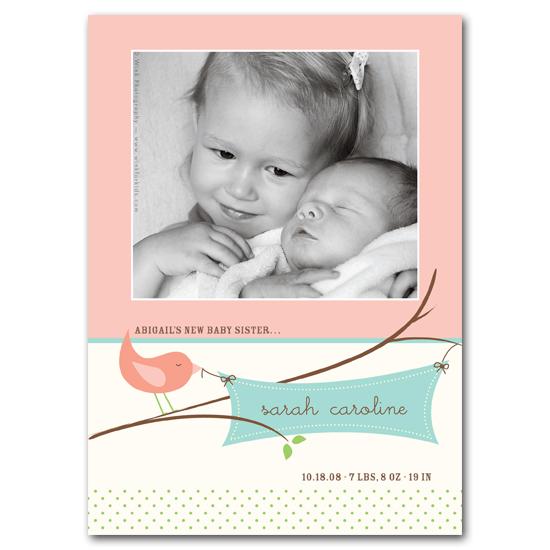 birth announcements - Tweet Tweet by Carrie Eckert