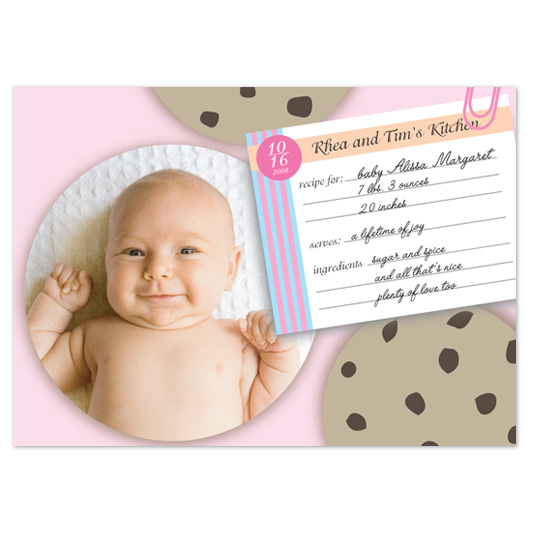 birth announcements - sweet little cookie by Jaee