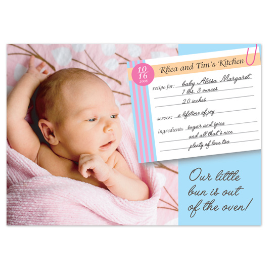 birth announcements - bun in the oven by Jaee