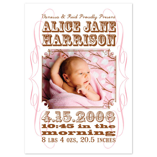 birth announcements - Wanted by Paper Stories