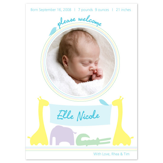 birth announcements - On the day you were born... by Julia Destrampe