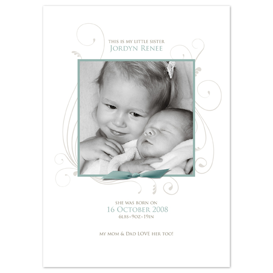 birth announcements - My Sister by dinnys designs