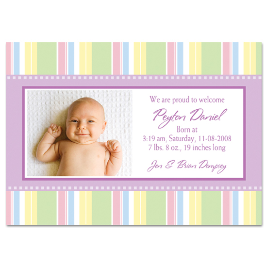 birth announcements - Pastel Dream by PaperDahlCreations