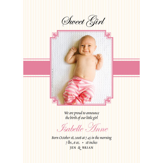 birth announcements - Little Lamb by Jennifer Jerhoff Telford