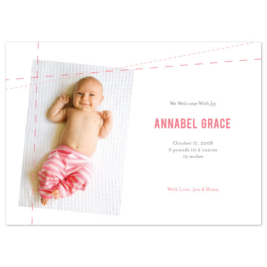 birth announcements - Stiched by SweetBeaker