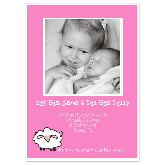 birth announcements - Counting Sheep by Weddings and Wellies