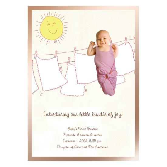 birth announcements - Bundle of Joy by Natalie D