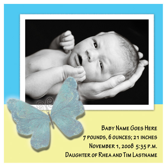 birth announcements - Baby Blues by Natalie D