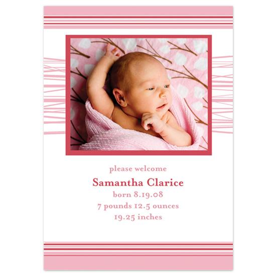 birth announcements - Sweet Stripes by Ri.S.K./Little Yeti