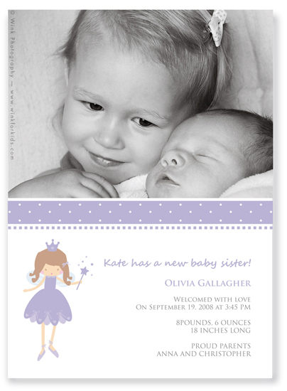 birth announcements - Fairy princess by Ana Inés Guimaraes