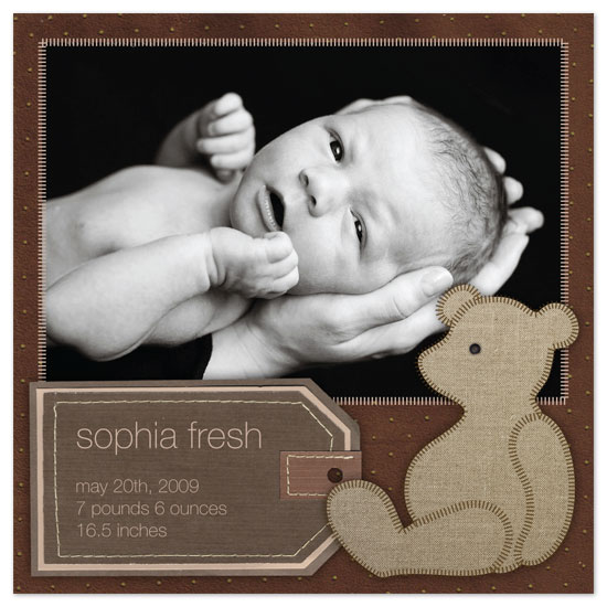 birth announcements - Bear Book by Waui Design