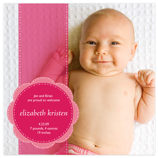 birth announcements - Pink Ribbon by l