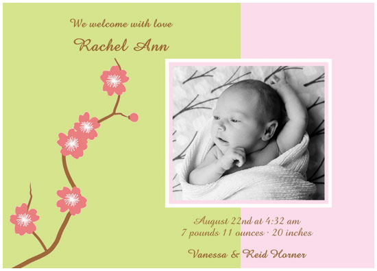 birth announcements - Sweet Blossoms by 1st Comes Love... Design